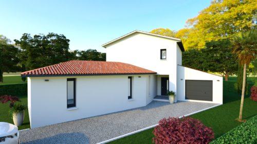 Projet maison contemporaine 160 m² habitables