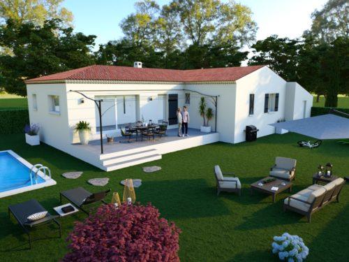 Maison en L 105 m²